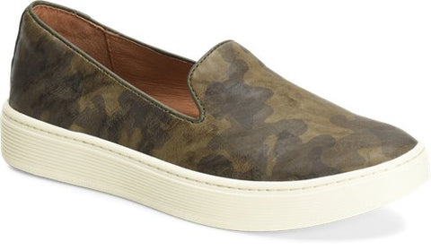 Somers olive camo slip-on sneakers