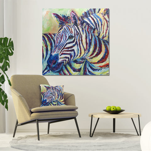 Canvas Print of 'Zebra' (square version)