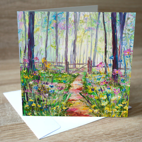 'Glade' blank greetings card