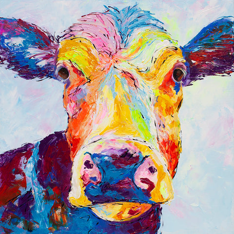 Canvas Print of 'Clover Cow'