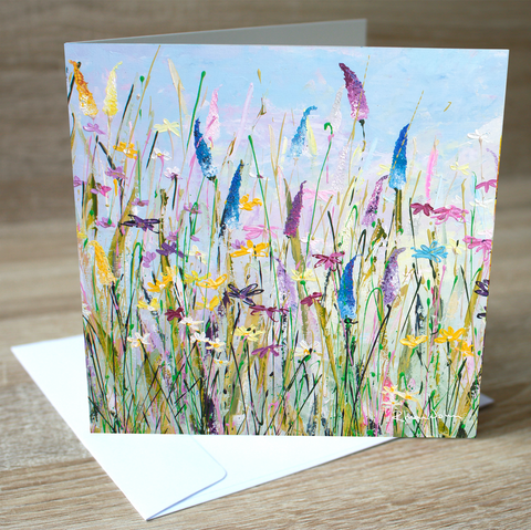 'My Meadow' blank greetings card
