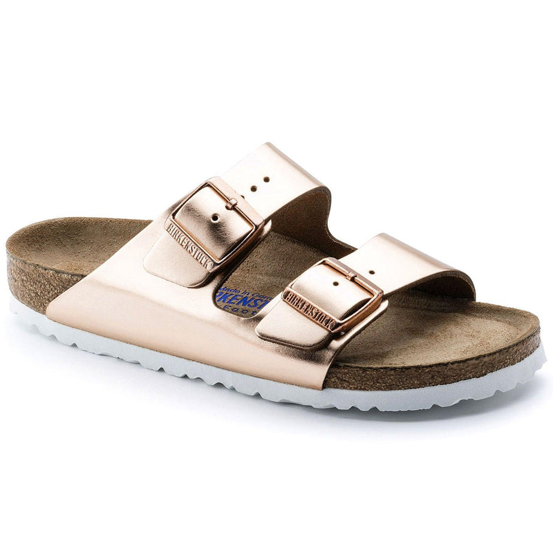 Women's Birkenstock Arizona Sandals - Metallic Copper