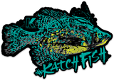 CRAPPIE BUCKET DECAL DARK - Kenders Outdoors