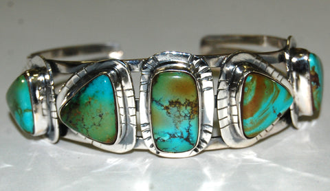 Collar Sunset | Sterling Silver Cuff With Turquoise - Native Marvels