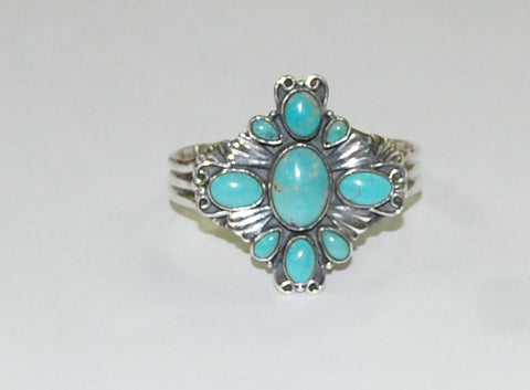 Apache River Azul | Sterling Silver Cuff With Turquoise - Native Marvels