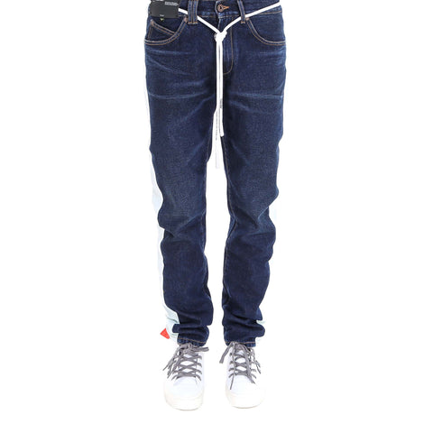Off-White Drawstring Side Band Jeans