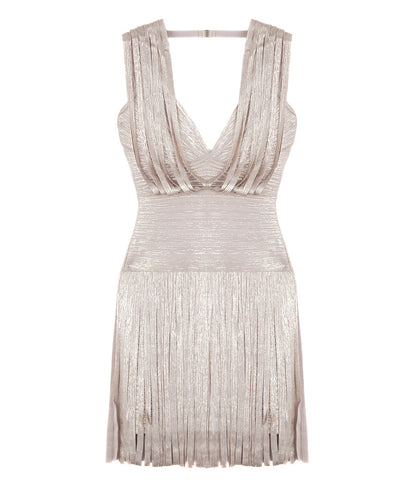 Herve Leger Draped Cocktail Dress