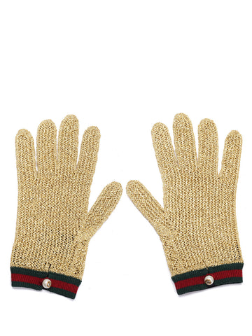 Gucci Crochet Lurex Gloves