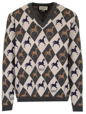 Gucci Jacquard Knitted Jumper