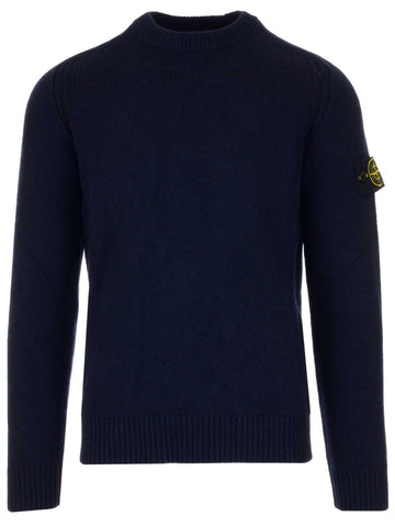 Stone Island Logo Patch Knitted Pullover