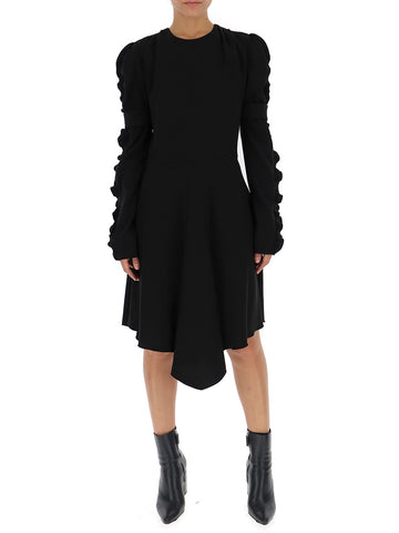 Chloé Ruffled Sleeve Asymmetric Dress
