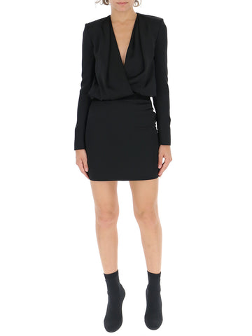 Saint Laurent Fitted V-Neck Dress