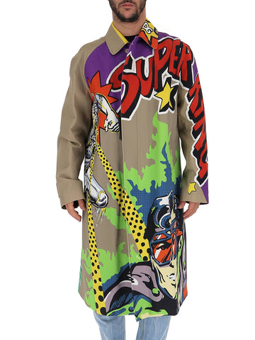 Dolce & Gabbana Printed Trench Coat