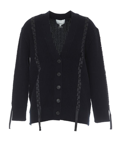 3.1 Phillip Lim Ribbon Weave V Neck Cardigan
