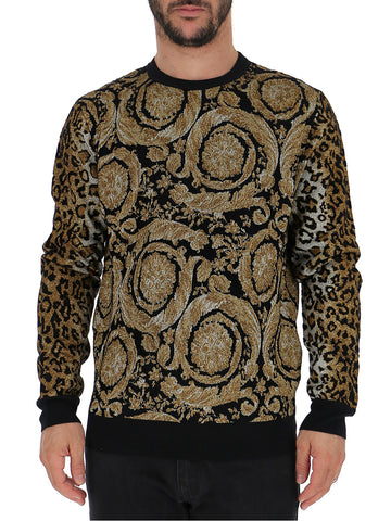 Versace Mixed Pattern Sweater