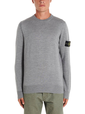 Stone Island Shadow Project Logo Knitted Sweater