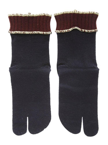 Maison Margiela 4-Stitches Contrasting Trim Knitted Gloves