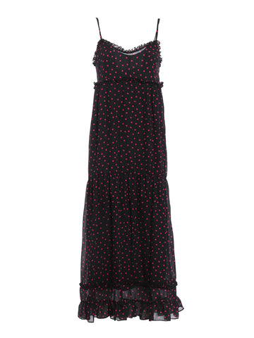 McQ Alexander McQueen Polka Dot Maxi Dress