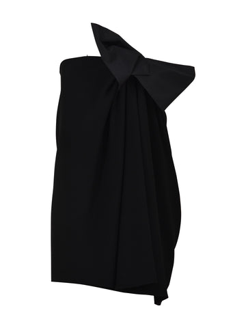 Saint Laurent Strapless Bow Mini Dress