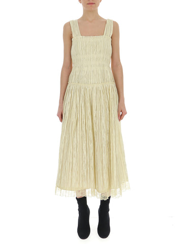 Bottega Veneta Crepe Effect Midi Dress