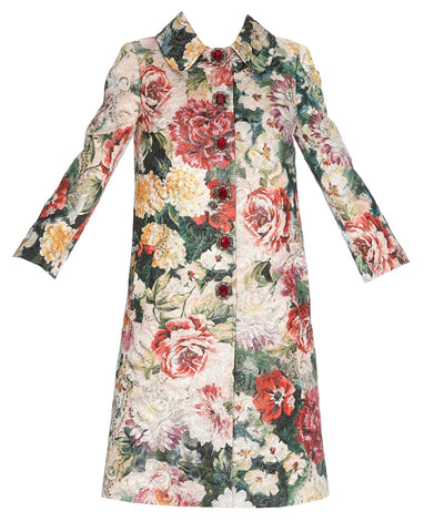 Dolce & Gabbana Floral Printed Coat
