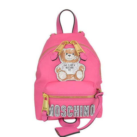 Moschino Teddy Patch Zipped Backpack
