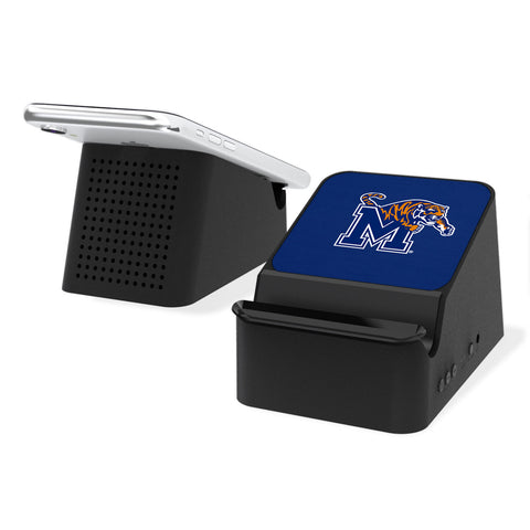 Memphis Tigers Solid Wireless Charging Station and Bluetooth Speaker