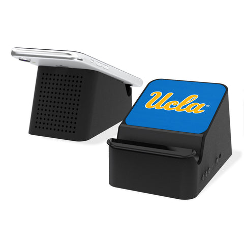 UCLA Bruins Solid Wireless Charging Station and Bluetooth Speaker