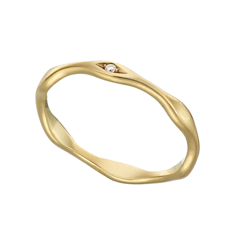 Tumulus 18ct Yellow Gold Diamond Ring Loinnir Jewellery Irish Jewellery Designer