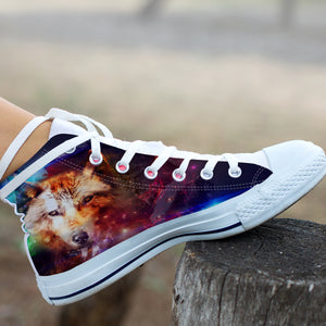 Abstract Wolf High Tops