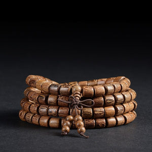 Tibetan Buddhist 108 SandalWood Mala Bracelet/Necklace - Hilltop Apparel - 1