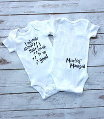 Up to no good romper - Your Baby's Closet