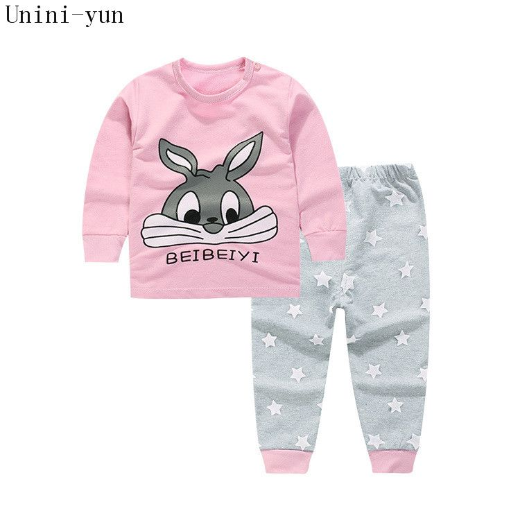 baby clothing set,Toddlers children set,baby boys girls 2 pcs Rabbit Print,Hot sale-Pink - Your Baby's Closet