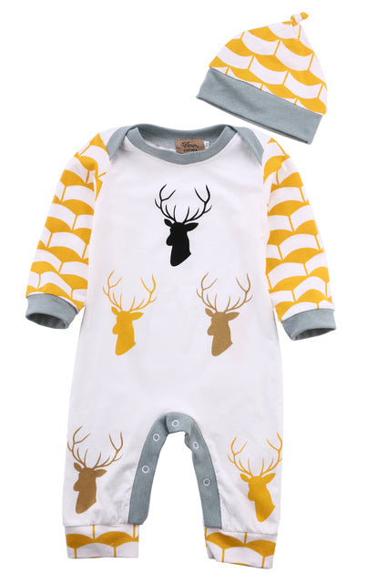 Deer Jumpsuit Set - Your Baby's Closet
