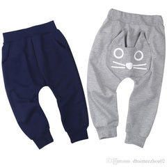 spring and autumn kids clothing boys girls harem pants cotton owl trousers baby pants - Your Baby's Closet