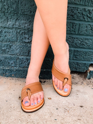 Barefoot Blonde Tan Leather Sandal
