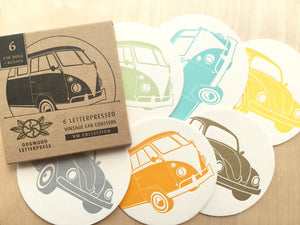 Vintage VW Bus & Beetle Coasters