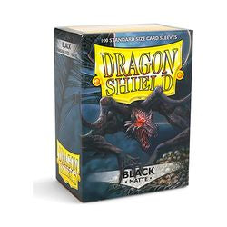 Dragon Shield Sleeves: Matte Black (Box Of 100)