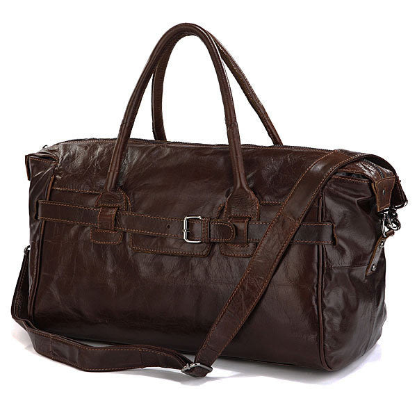 Handmade Antique Leather Business Travel Bag / Tote / Leather Luggage / Overnight Bag / Weekend Bag D35