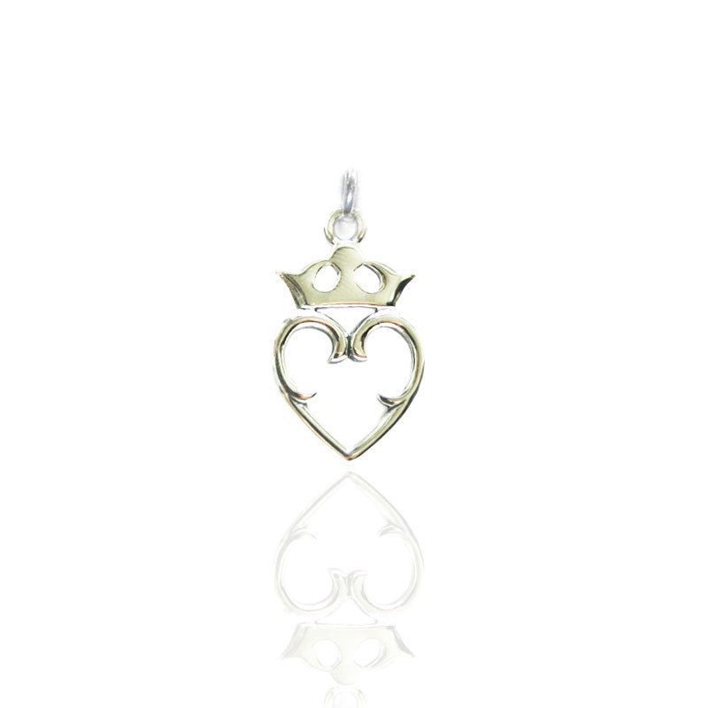 Luckenbooth Traditional Charm in Sterling Silver