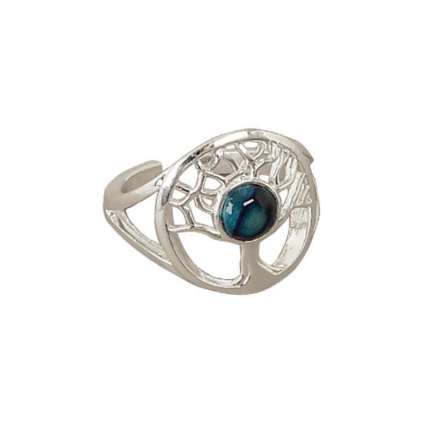 Heathergems Tree of Life Ring in Silver