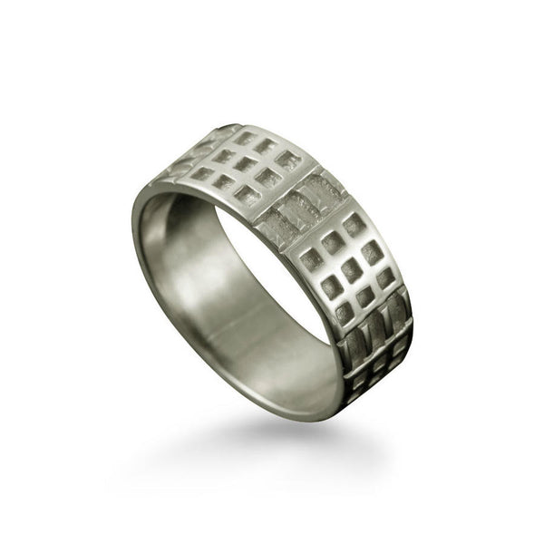 Charles Rennie Mackintosh Art Deco Ring in Platinum