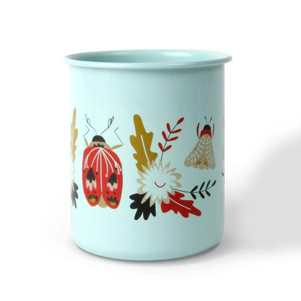 Folk Art Beetles Pencil Cup