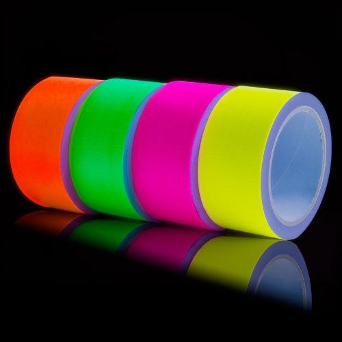 UV Fluorescent Adhesive Duct Tape 4x