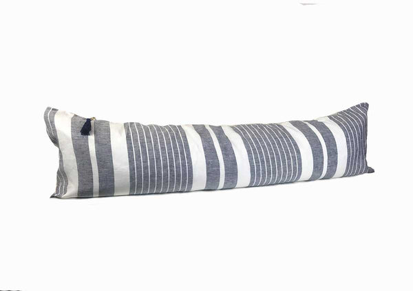 "Majorca Vieja Narrow Stripe Midnight Blue 14"" x 48"" Pillow 