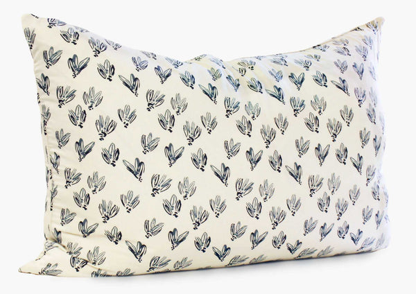 Normandy Headboard Cushion In Blue Bows | Hedgehouse
