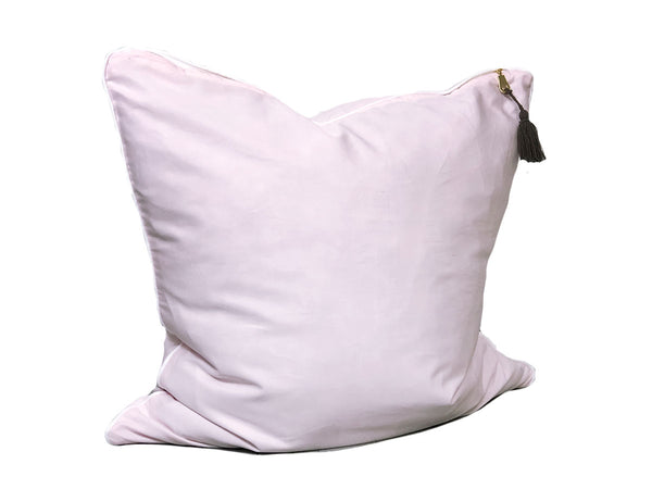 Aveira Throw Pillow in Pink Shirtcloth with White Pipe – 20"