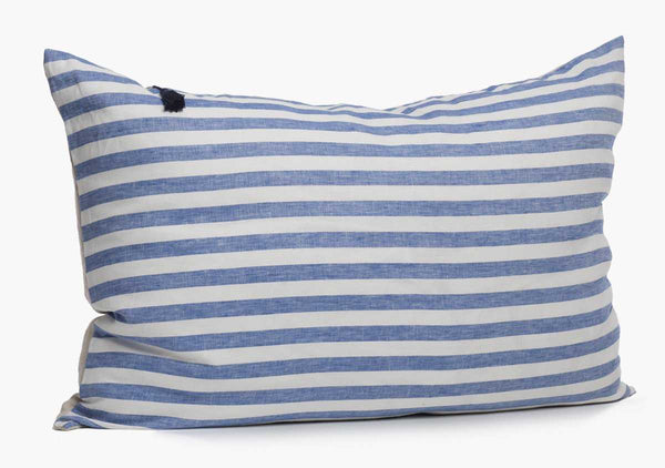 Sur La Mer Headboard Cushion In Blue Wide | Hedgehouse