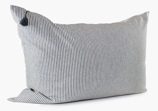 Toulouse Headboard Cushion In Blue Narrow | Hedgehouse