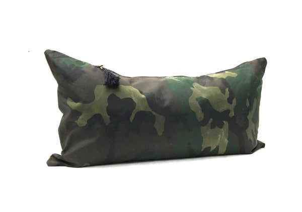 "Pillow In Combo Camo TexWax & Linen - 14"" x 26"" 